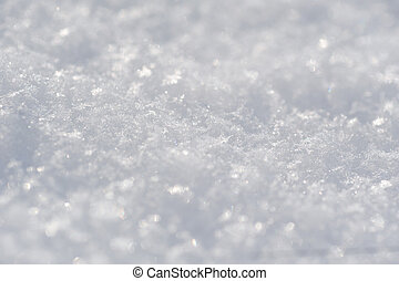 White background of snow in the winter