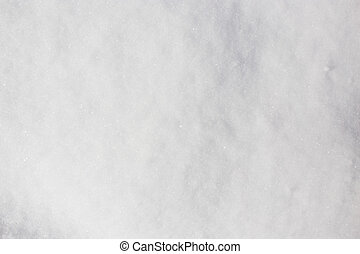 White background of snow on the nature