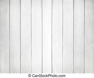 White background of wooden planks - White wooden wall...