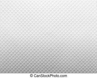 White background.