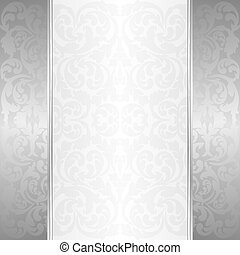 white background - white and silver background with...