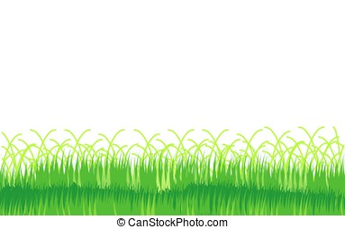 White background with a grass