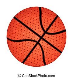 white background with basketball ball