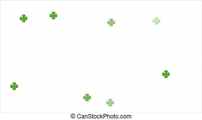 white background with bokeh clover