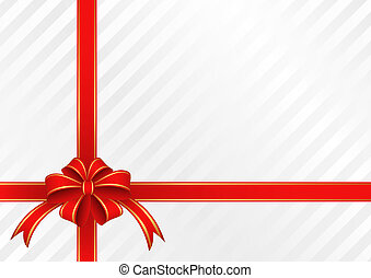 gift - white background with  bow for gifts