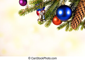 white background with christmas balls
