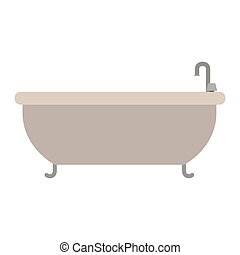 white background with color silhouette of bathtub icon