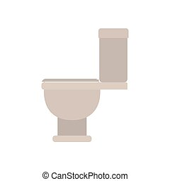 white background with color silhouette of toilet icon side view