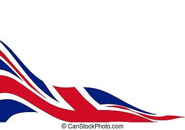 White background with flag of United Kingdom