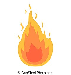 white background with flame icon