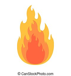 white background with flame in closeup