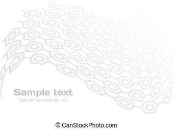 White background with gray hexagon