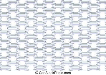 White Background with Hexagons