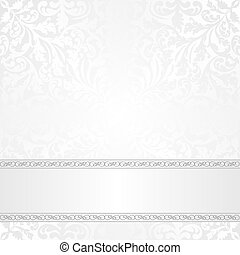 white background with ornaments