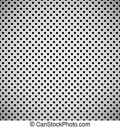 White Background with Perforated Pattern - White abstract...