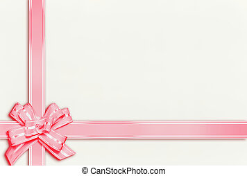 background with pink ribbon