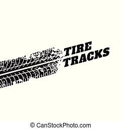 white background with tire track impression