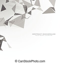 white background with triangle shapes