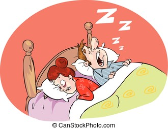 white backround Vector illustration of a loud snoring...