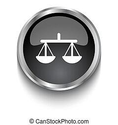 White Balance symbol on black glossy web button