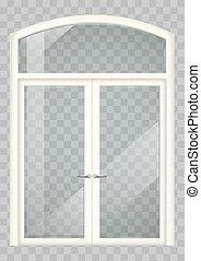 White balcony door