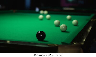 White ball flew into the pocket after hitting black