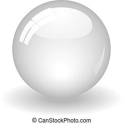 White Ball - Illustration of a white ball. Available in jpeg...