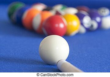 white ball ready to play pool