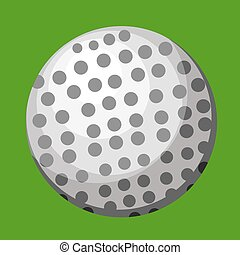 White Ball vector color illustration.