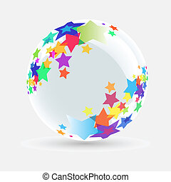 White ball with star