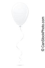 white balloon vector illustration