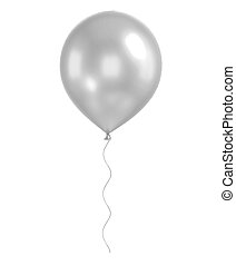 white balloons isolated - 3d white balloon isolated on white...