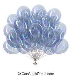 White balloons translucent glossy