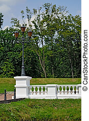White balustrade in the old Park