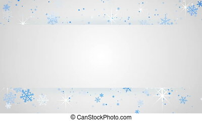 white banner and snowfall loop