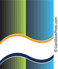 A striped white banner is featured in an abstract vector illustration.