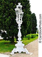 White Baroque style street lantern