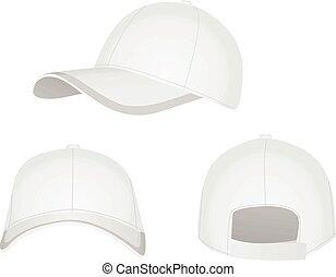 White baseball cap