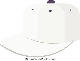 white baseball cap icon