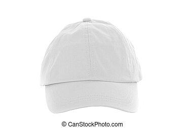 White Baseball Cap on white