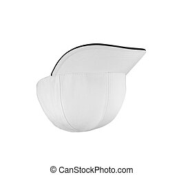 White Baseball Hat Isolated on White Background