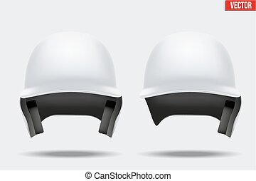 White baseball helmet