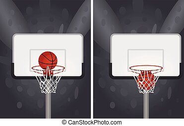 White basketball basket