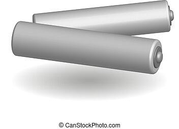 White batteries in 3D