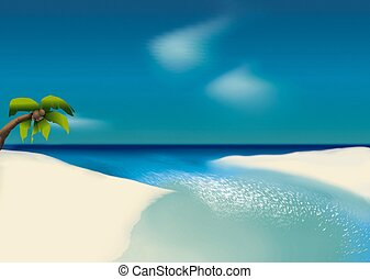 White beach - Highly detailed cartoon background 62 - ...