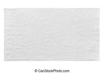 White beach towel isolated on white