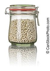 White beans in a jar