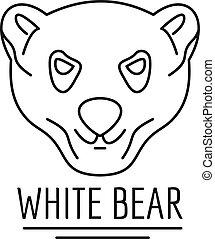 White bears logo, outline style