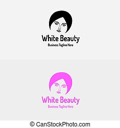 White Beauty Girl Logo