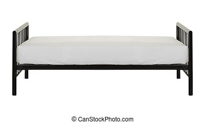 White bed isolated on white